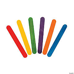 Rainbow-Colored Craft Sticks