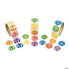 Rainbow Cross Rolls of Stickers