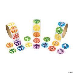 Rainbow Cross Rolls of Stickers