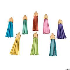 Rainbow Faux Leather Tassels