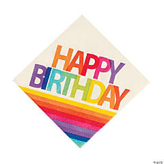 Rainbow Happy Birthday Luncheon Napkins