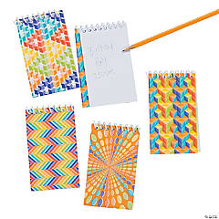 Rainbow Optical Illusion Spiral Notebooks