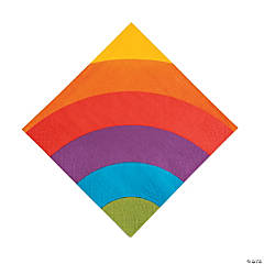 Rainbow Party Luncheon Paper Napkins