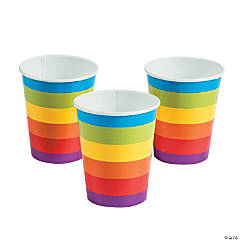 Rainbow Party Paper Cups