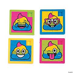 Rainbow Poop Emoji Slide Puzzles