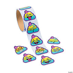 Rainbow Poop Emoji Stickers