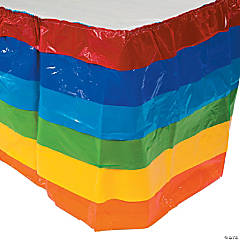 Rainbow Ruffle Table Skirt