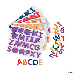 Rainbow Self-Adhesive Letters