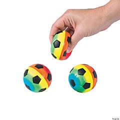 Rainbow Soccer Stress Balls