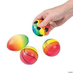 Rainbow Sports Stress Balls
