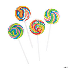 Rainbow Swirl Lollipops