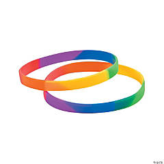Rainbow Thin Band Silicone Bracelets