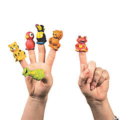 Rainforest Friends Finger Puppets