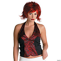 Razor Pixie Wig Burgundy/Red