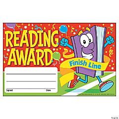 Reading Award Finish Line Award Certificate - 30 per pack, 12 packs