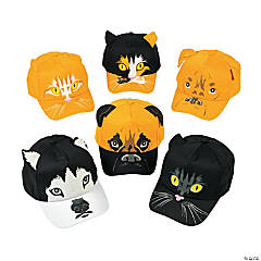 Realistic Cat & Dog Baseball Caps Assortment