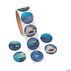 Realistic Photo Shark Stickers