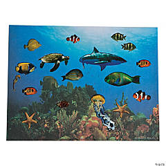 Realistic Under the Sea Sticker Scenes