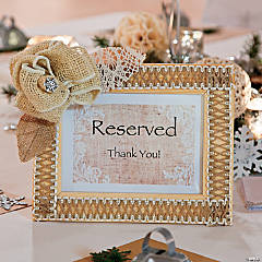 Reception Sign Frames Idea