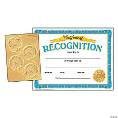 Recognition Certificates and Congratulations Seals Combo Pack - 30 certificates and 32 seals per pack, 3 packs