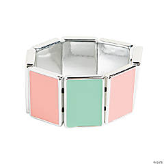 Rectangle Green & Pink Bracelet Craft Kit