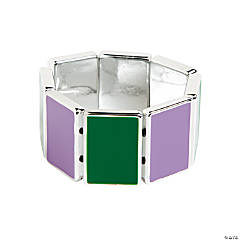 Rectangle Purple & Green Bracelet Craft Kit