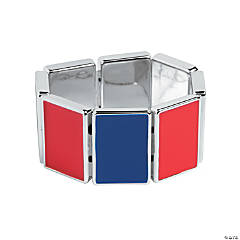 Rectangle Red & Blue Bracelet Craft Kit