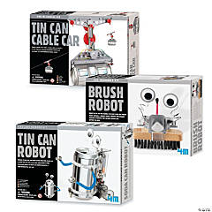 Recycled Robot Kits Set of 3