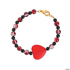Red & Black Heart Bracelet Idea
