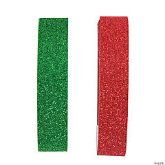 Red & Green Glitter Tape