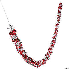 Red & Silver Candy Cane Garland