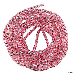 Red & Silver Mesh Tube Ribbon