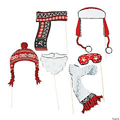 Red & White Costume Photo Stick Props