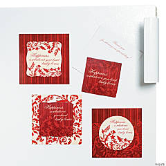 Red & White Magnet on Cards