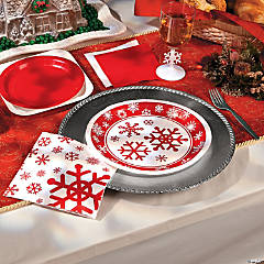 Red and White Snowflake Party Supplies