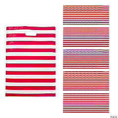 Red And White Striped Goody Bags