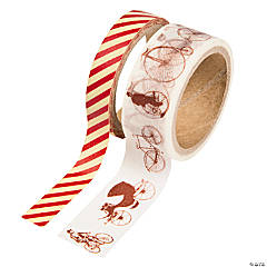 Red & White Vintage Washi Tape Set