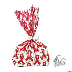 Red Awareness Ribbon Bags