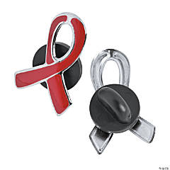 Red Awareness Ribbon Pins