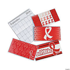 Red Awareness Ribbon Pocket Calendars