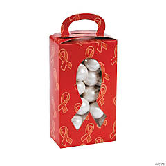 Red Awareness Ribbon Treat Boxes with Cutout