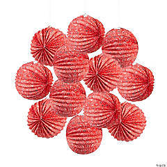 Red Bandana Hanging Paper Lanterns