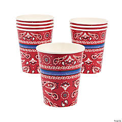 Red Bandana Paper Cups