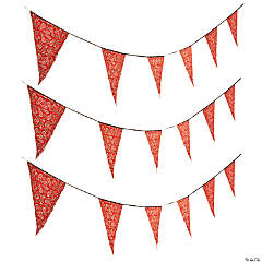red bandana print plastic pennant banner - Western Party Decorations