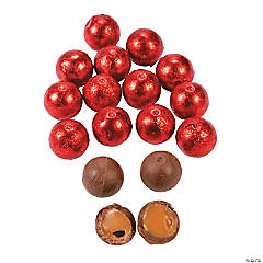 Red Caramel Balls Chocolate Candy