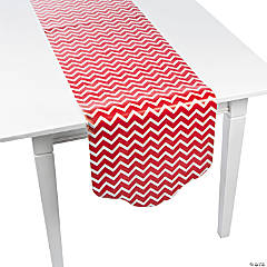 Red Chevron & Polka Dot Table Runner