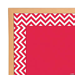 Red Chevron Bulletin Board Borders