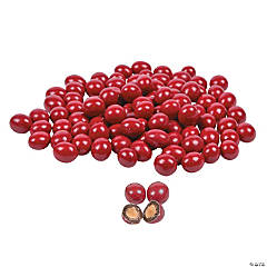 Red Chocolate-Covered Almonds
