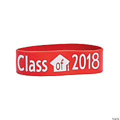 Red Class of 2018 Big Band Bracelets