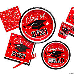 Red Class of 2018 Graduation Party Supplies